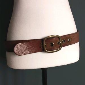 Brown Leather Belt * Size Medium
